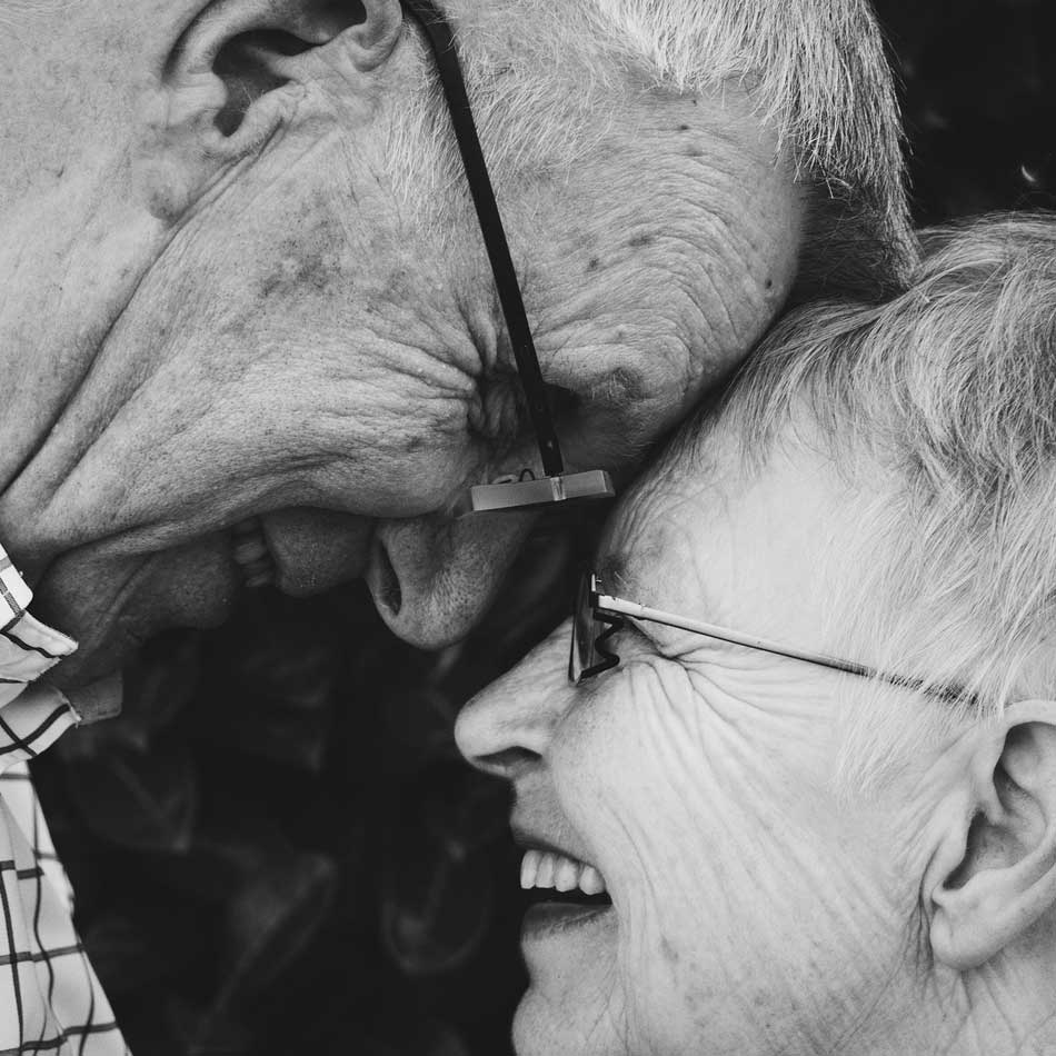 celebrant retirements - elderly couple looking into each others eyes
